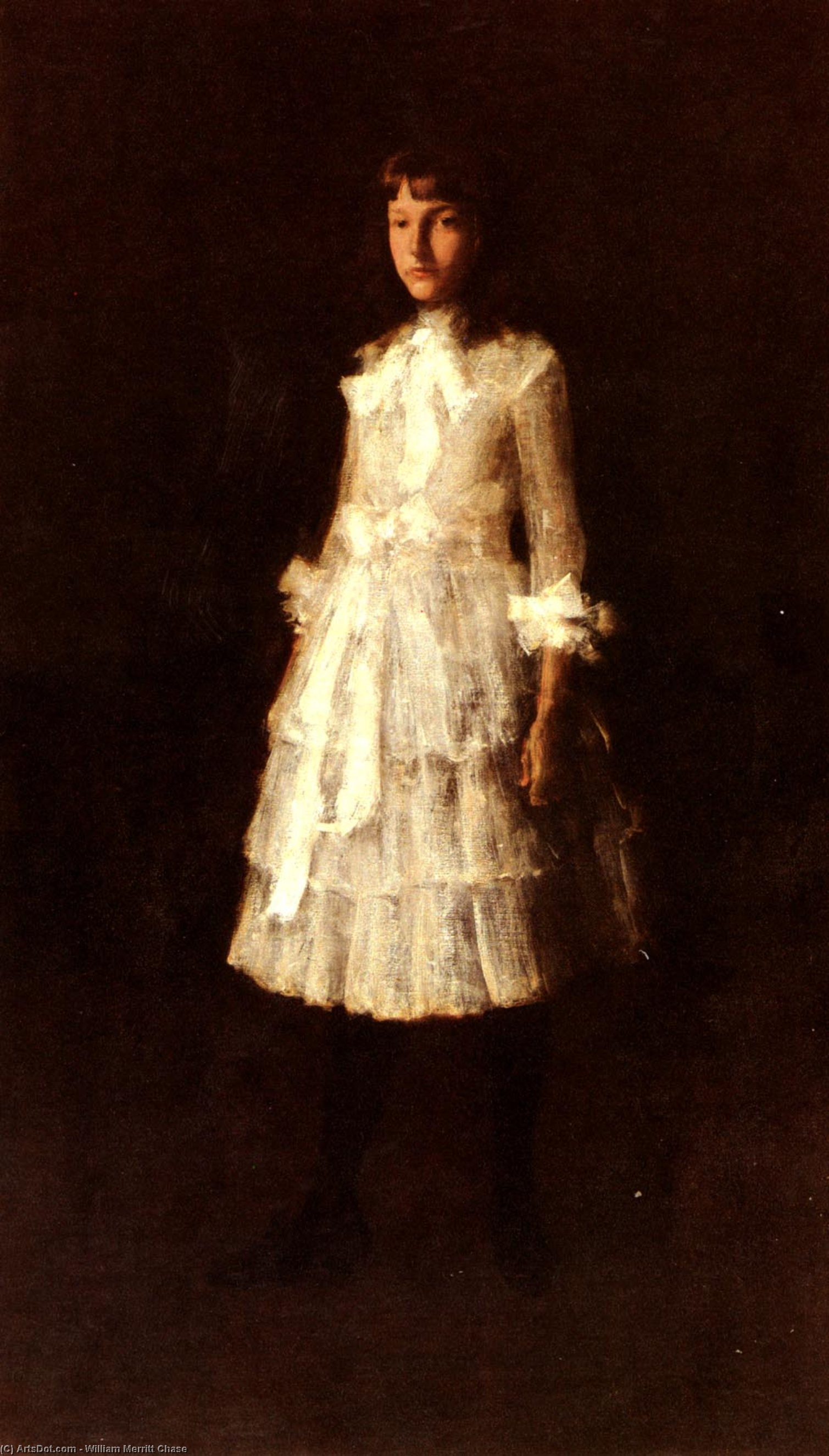 , olio su tela di William Merritt Chase (1849-1916, United States)