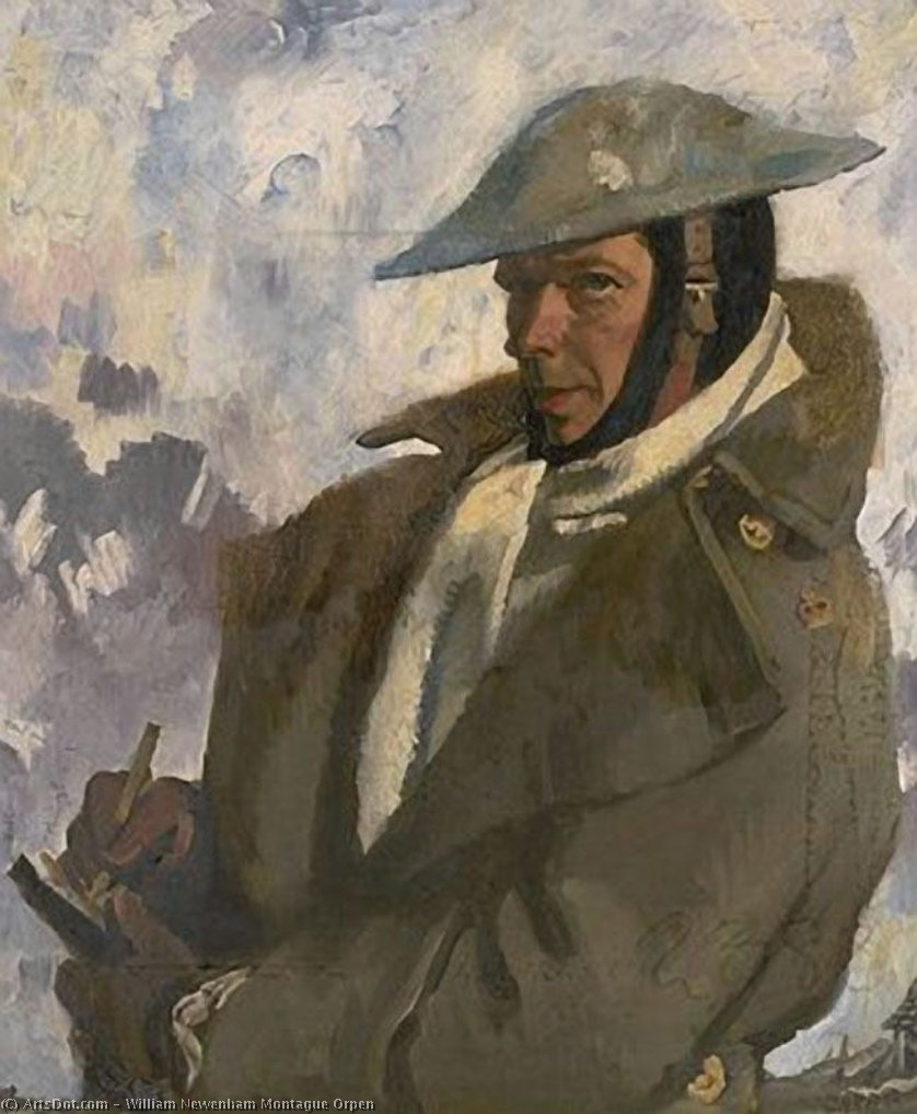 autoritratto in Uniforme , 1917 di William Newenham Montague Orpen (1878-1931, Ireland)