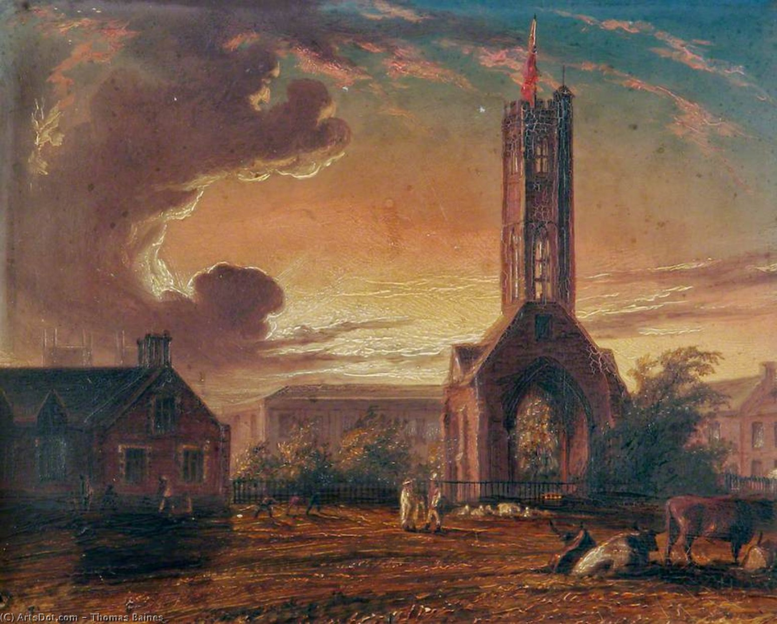 Greyfriars Torretta , Norfolk - di Thomas Baines (1820-1875, United Kingdom)