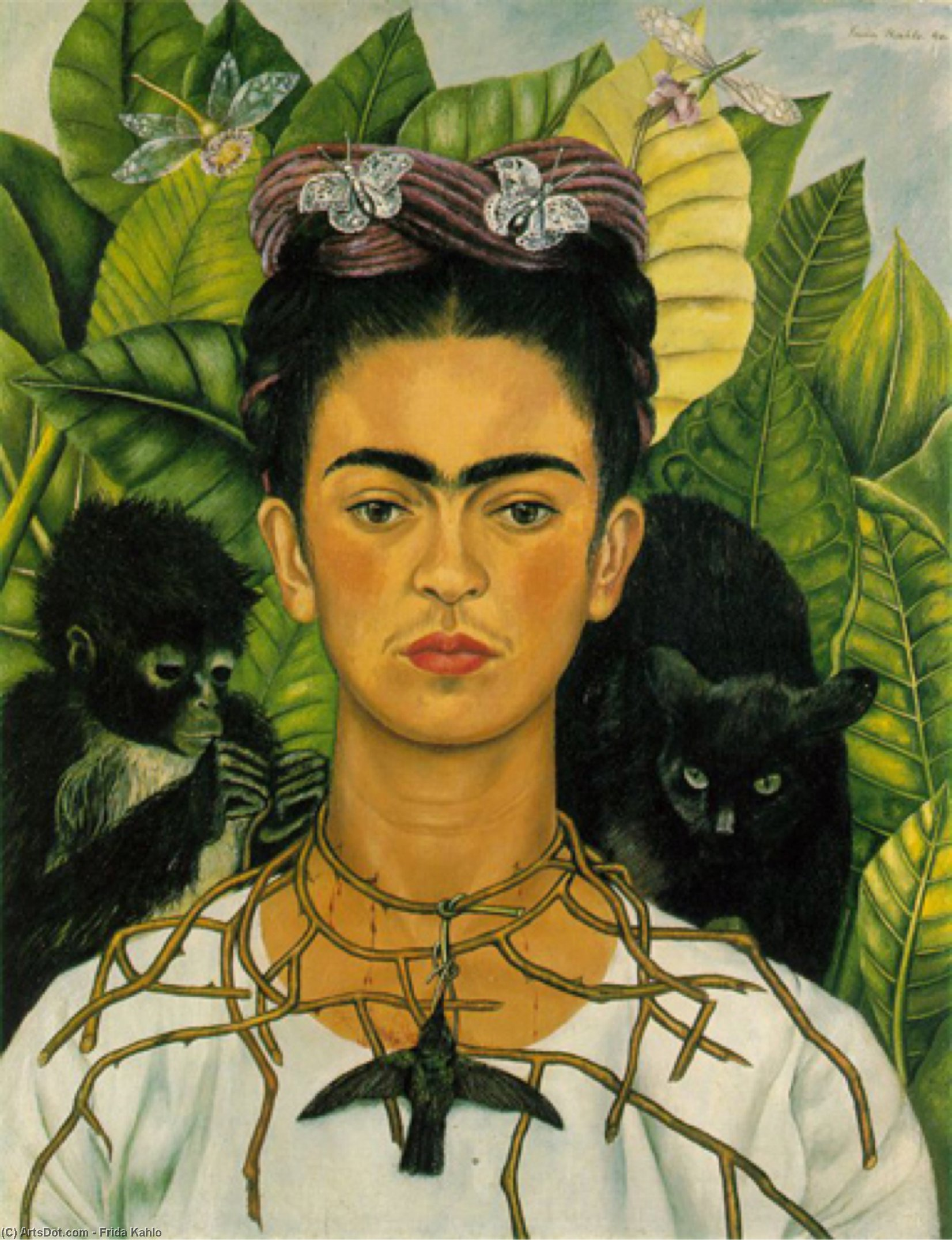 autoritratto di Frida Kahlo (1907-1954, Mexico)