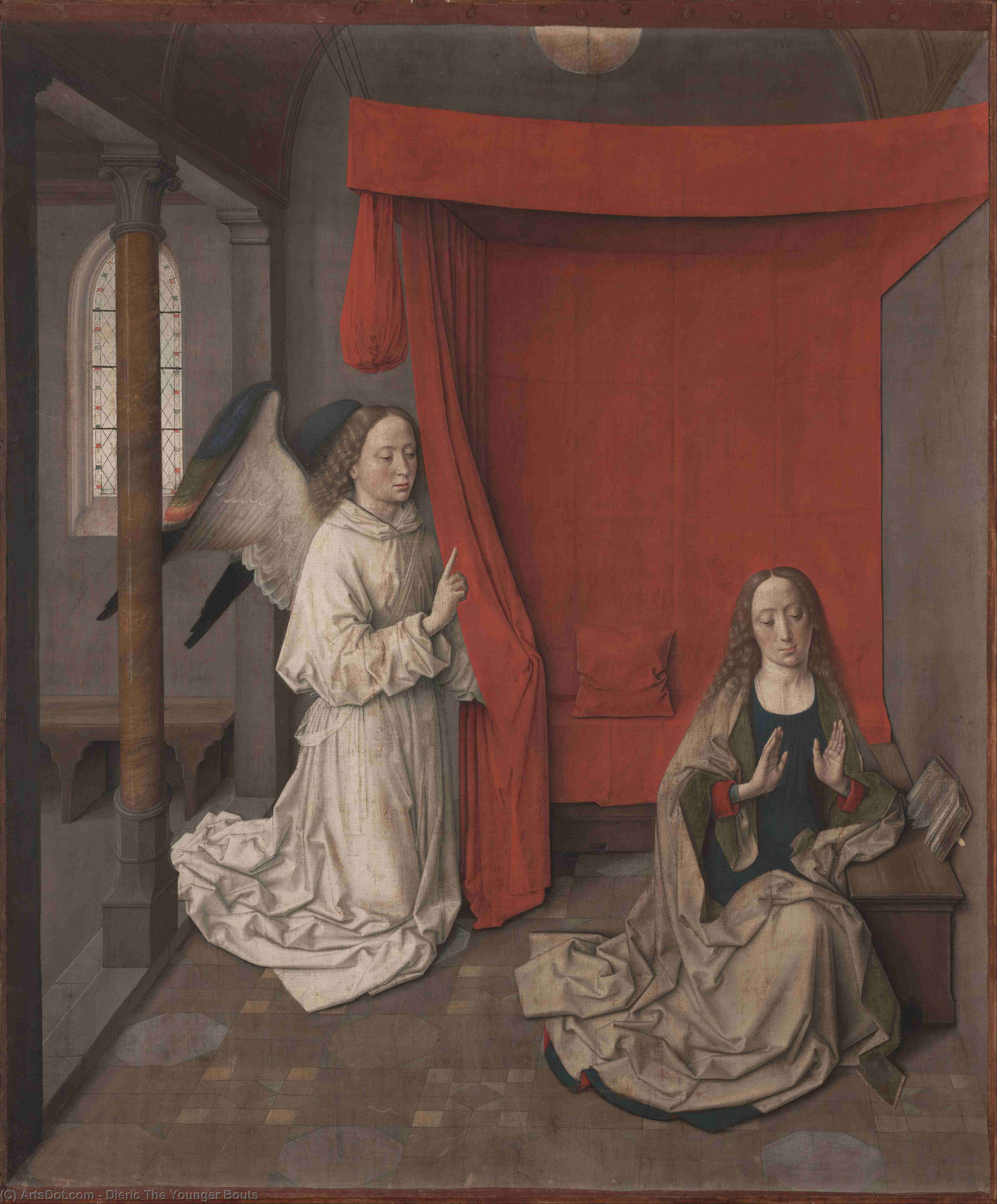 Annunciazone di Dieric The Younger Bouts (1415-1475, Belgium)