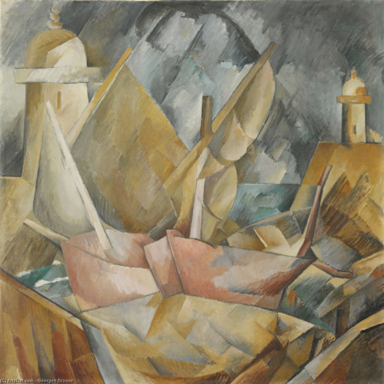 porto in normandia, 1909 di Georges Braque (1882-1963, France) |  | ArtsDot.com