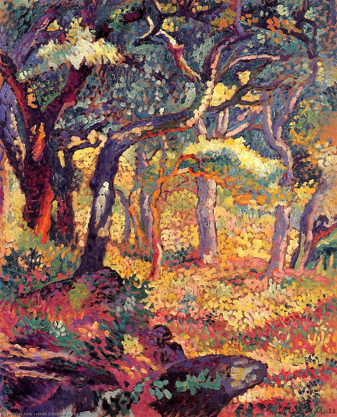 Studio per The Clearing di Henri Edmond Cross (1856-1910, France)