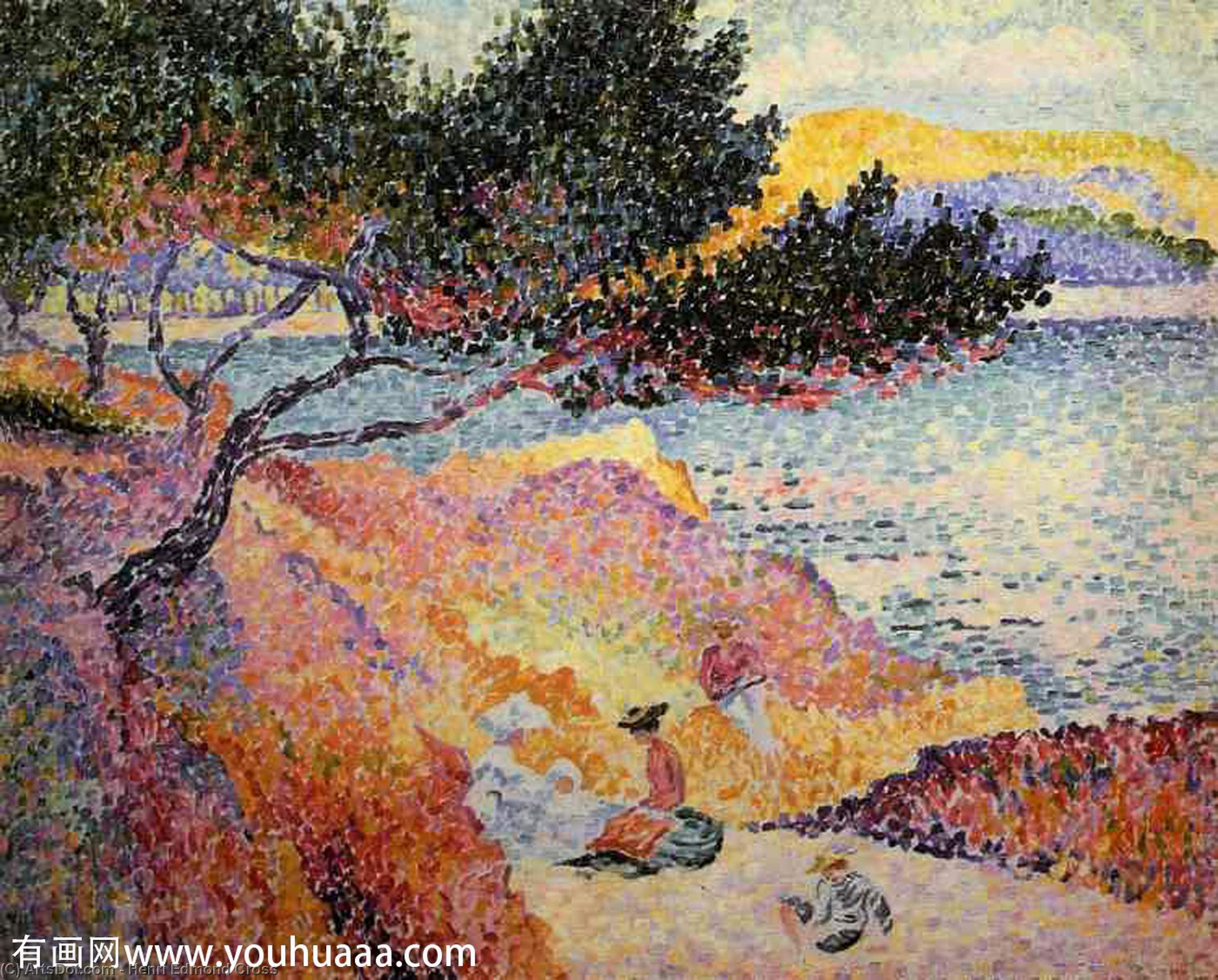 La baia di Cavaliere di Henri Edmond Cross (1856-1910, France)