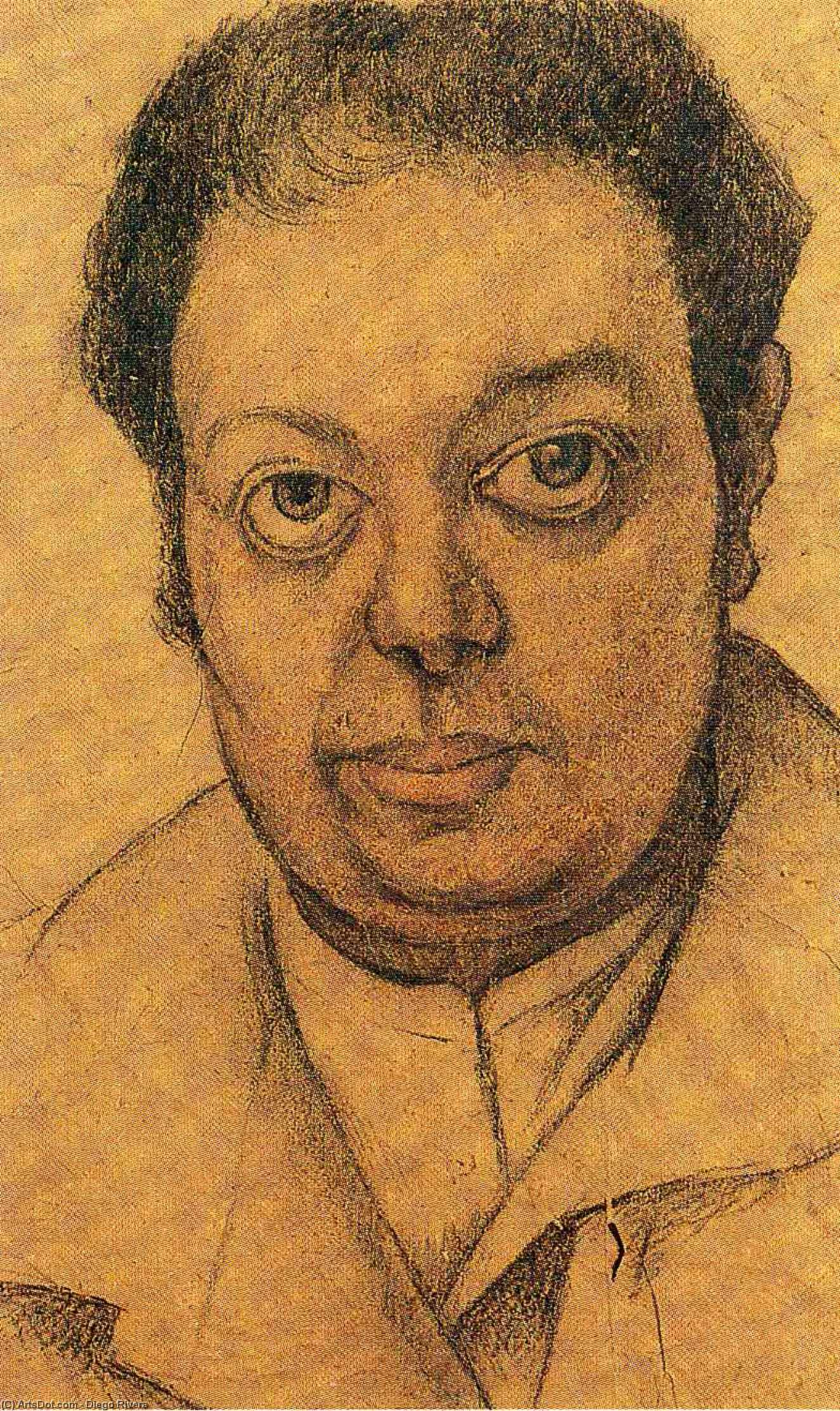 autoritratto di Diego Rivera (1886-1957, Mexico)