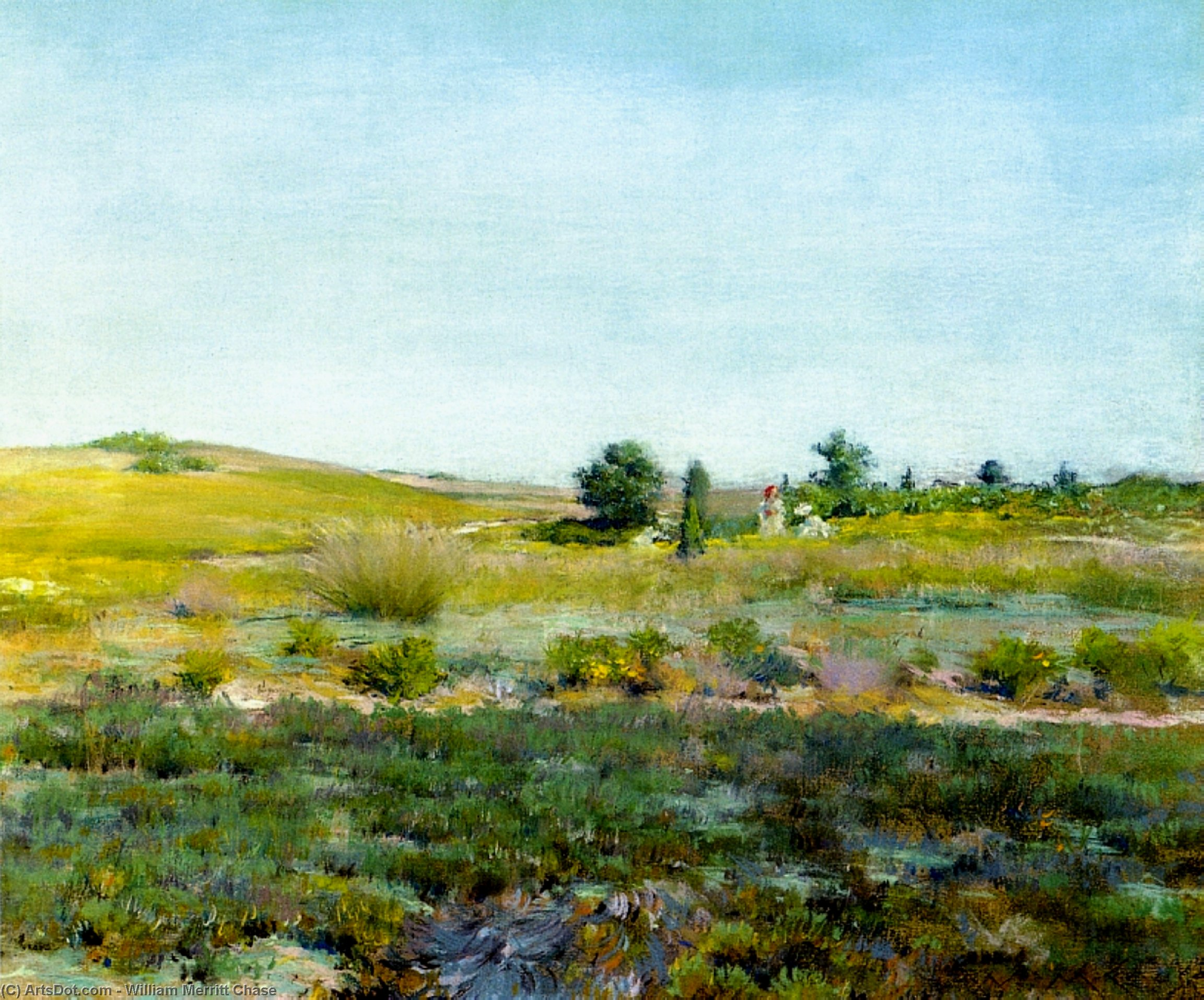 Shinnecock Colline , Estate, 1895 di William Merritt Chase (1849-1916, United States) | Riproduzione Art | ArtsDot.com