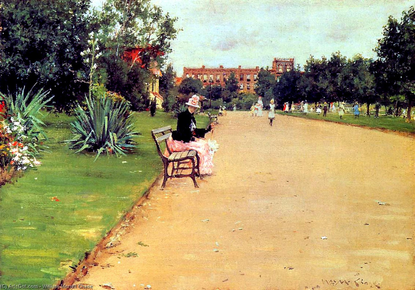 Il Parco 02  , 1887 di William Merritt Chase  (Compra Belle Arti Stampa con cornice William Merritt Chase)