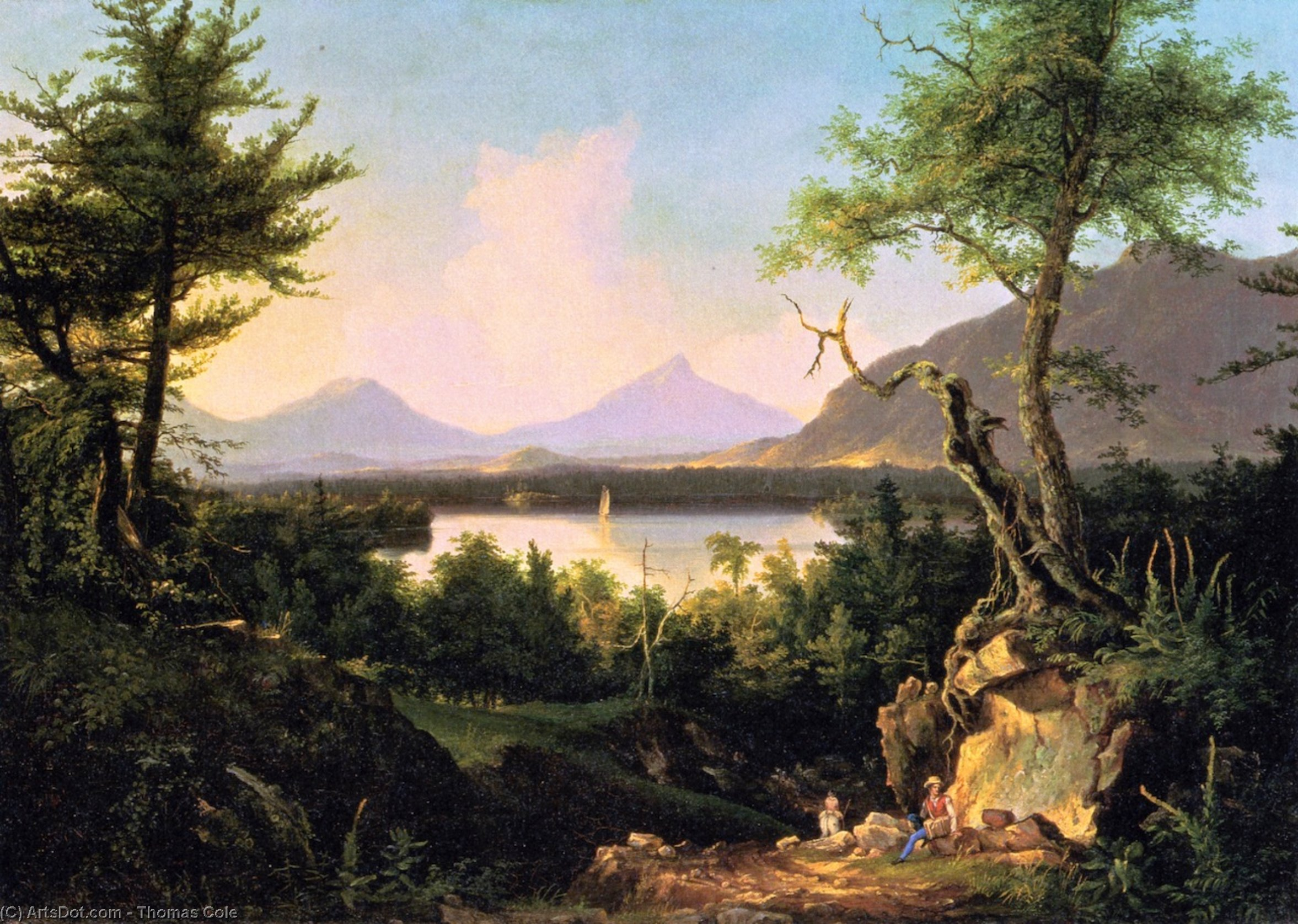 Winnipesaukee, olio su tela di Thomas Cole (1801-1848, United Kingdom)