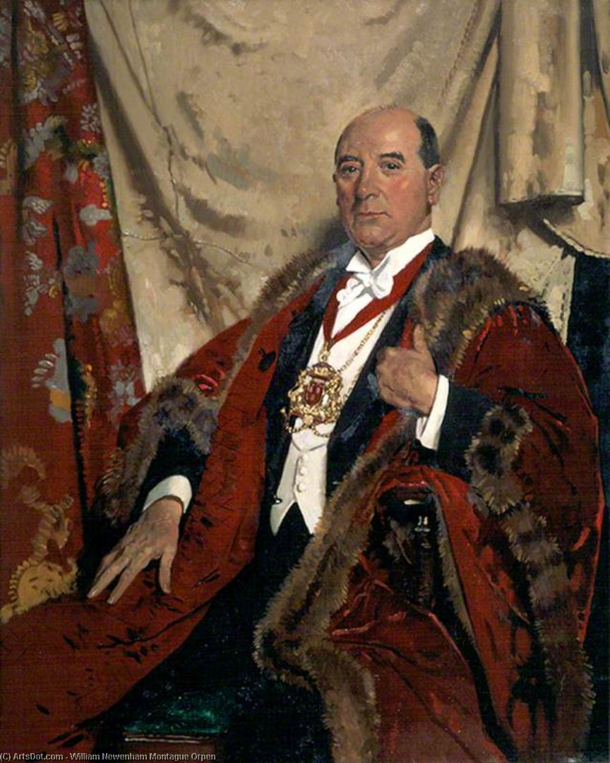 Signore Andrea Lewis , Lld , lord provost di aberdeen di William Newenham Montague Orpen (1878-1931, Ireland)