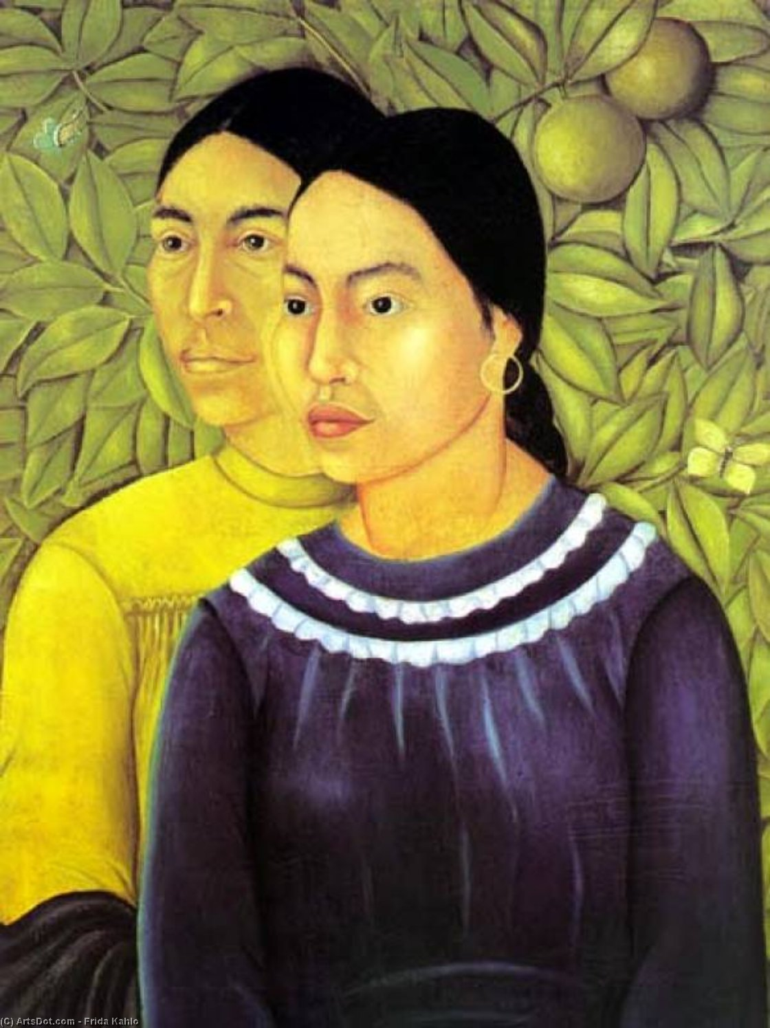due donne di Frida Kahlo (1907-1954, Mexico)