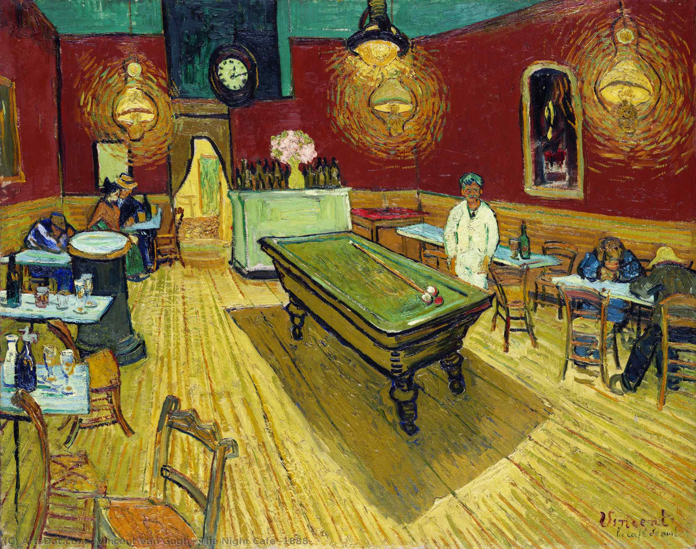 the night cafe [ 1888 ], 1888 di Vincent Van Gogh (1853-1890, Netherlands) | Riproduzioni D'arte Vincent Van Gogh | ArtsDot.com