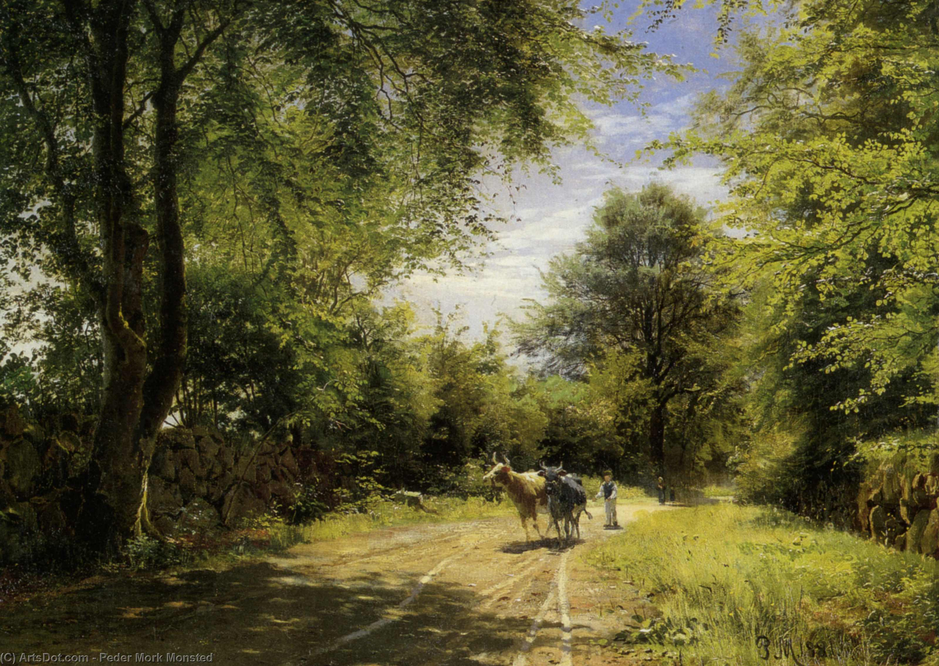 Il giovane Cowherd di Peder Mork Monsted (1859-1941, Denmark) | Copia Pittura | ArtsDot.com