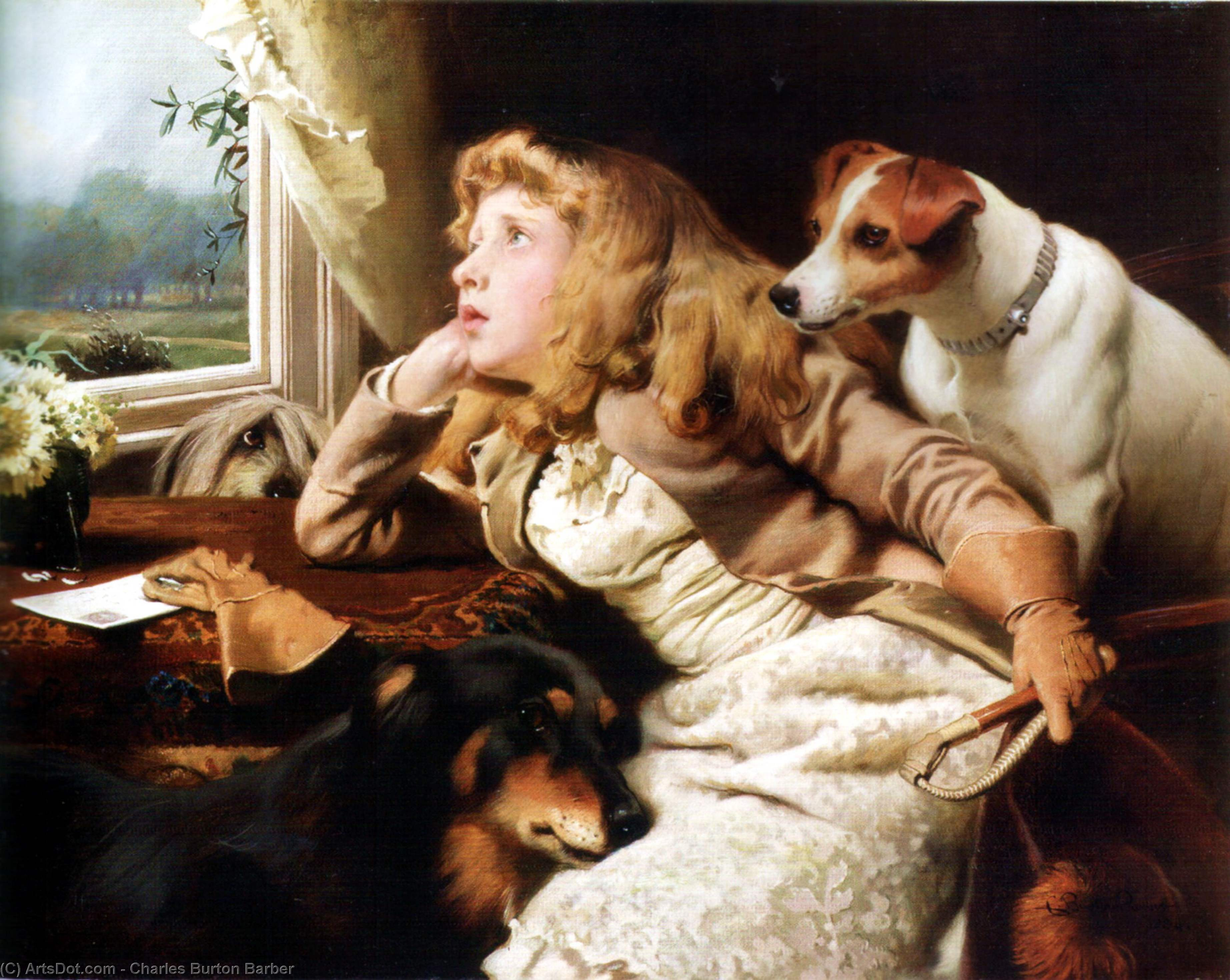 No corsa  oggi  di Charles Burton Barber (1845-1894, United Kingdom) | Copia Pittura | ArtsDot.com