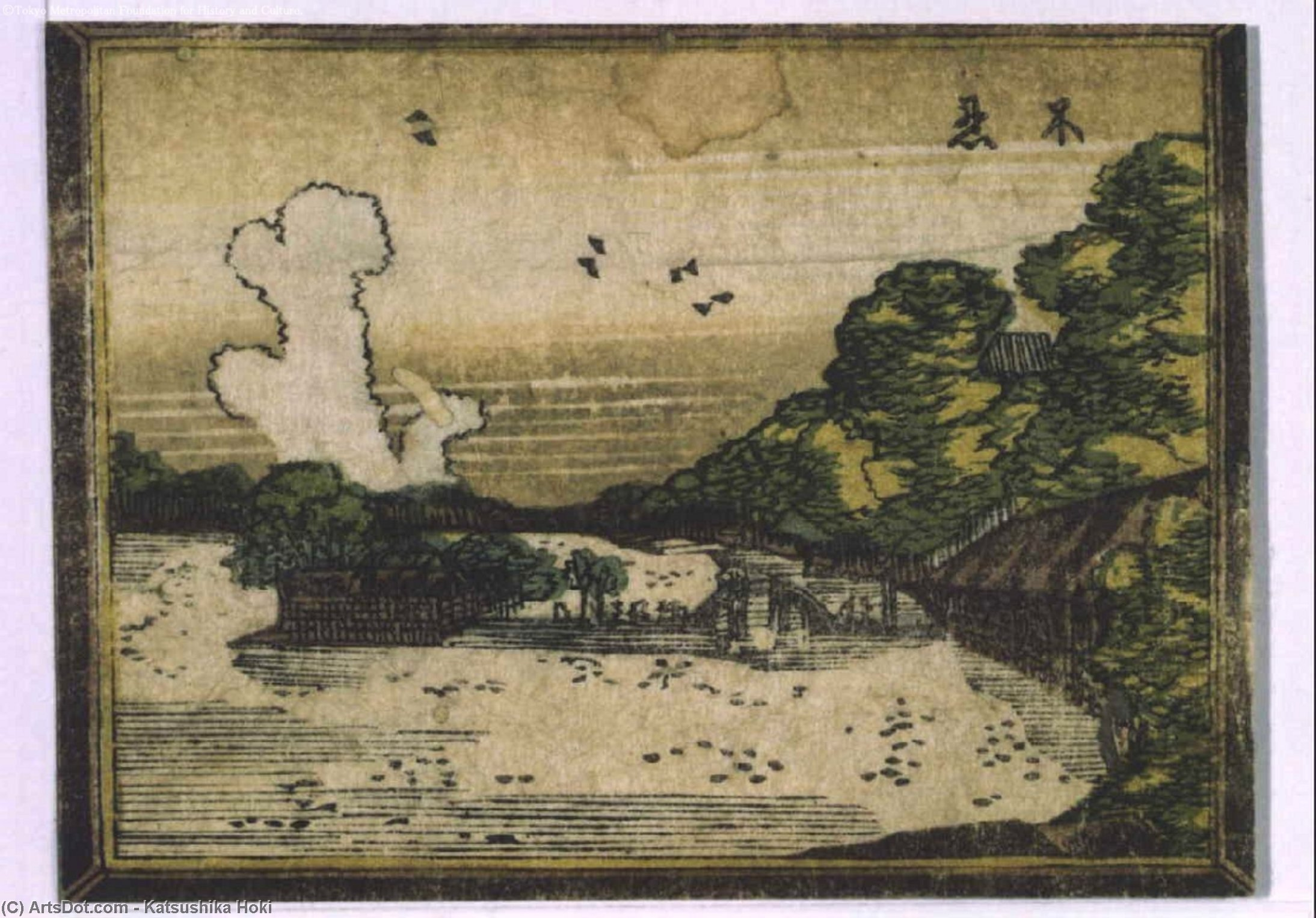 Otto vista Edo in stile Di Occidentale di Katsushika Hokusai (1760-1849, Japan) | Copia Pittura | ArtsDot.com