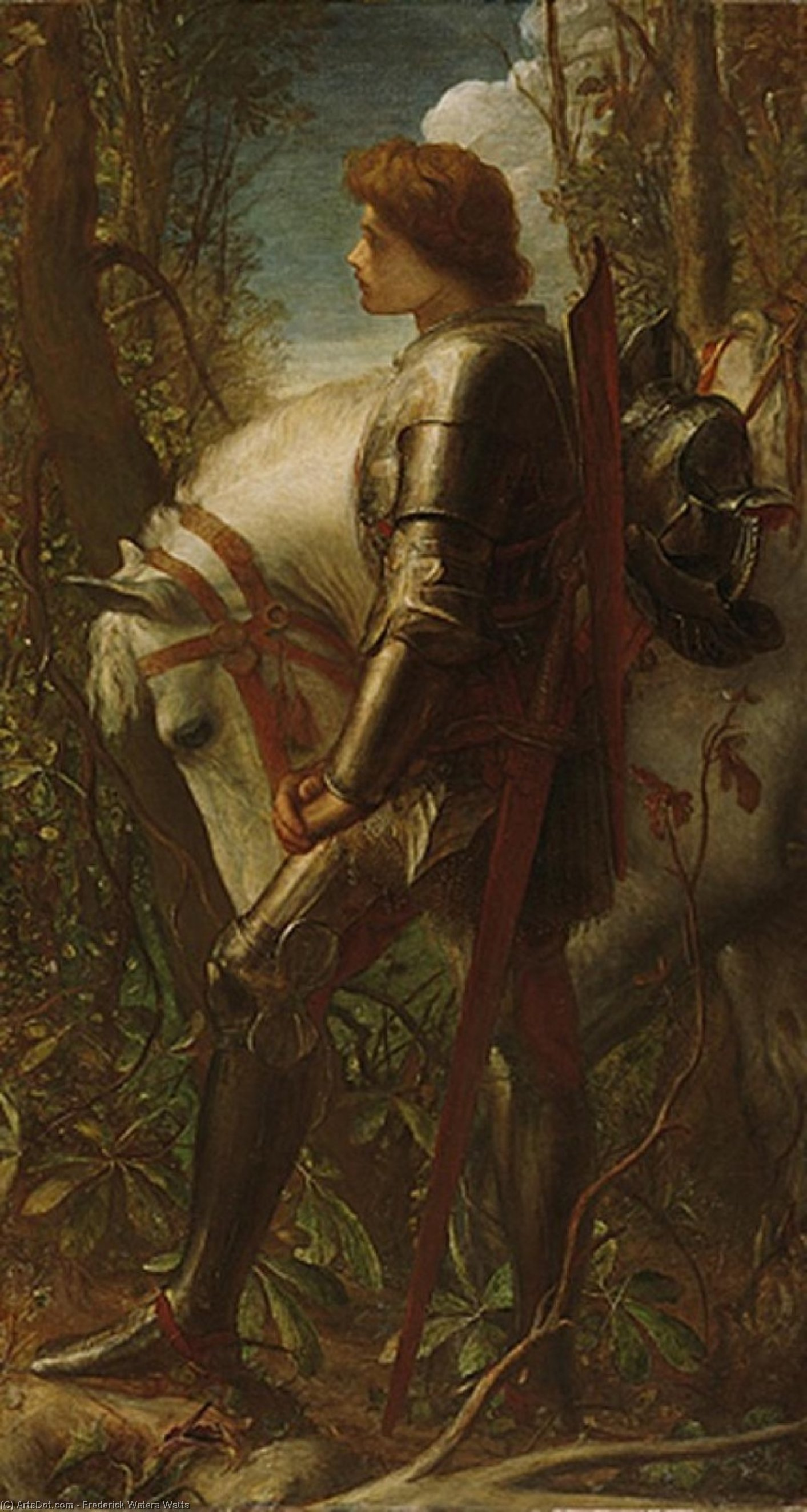 signore galahad, 1862 di Frederick Waters Watts (1800-1870, United Kingdom)