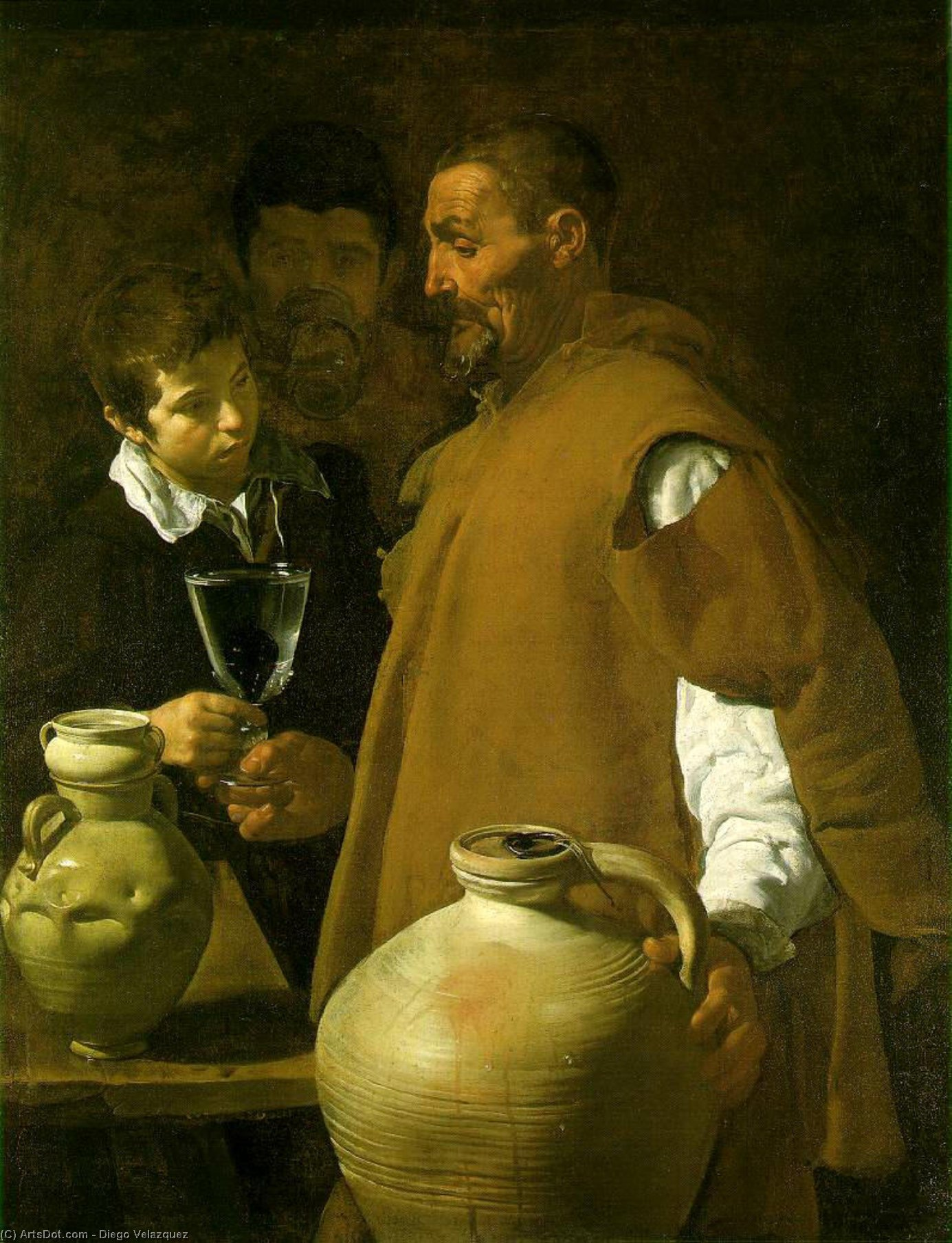 Waterseller siviglia di Diego Velazquez (1599-1660, Spain)
