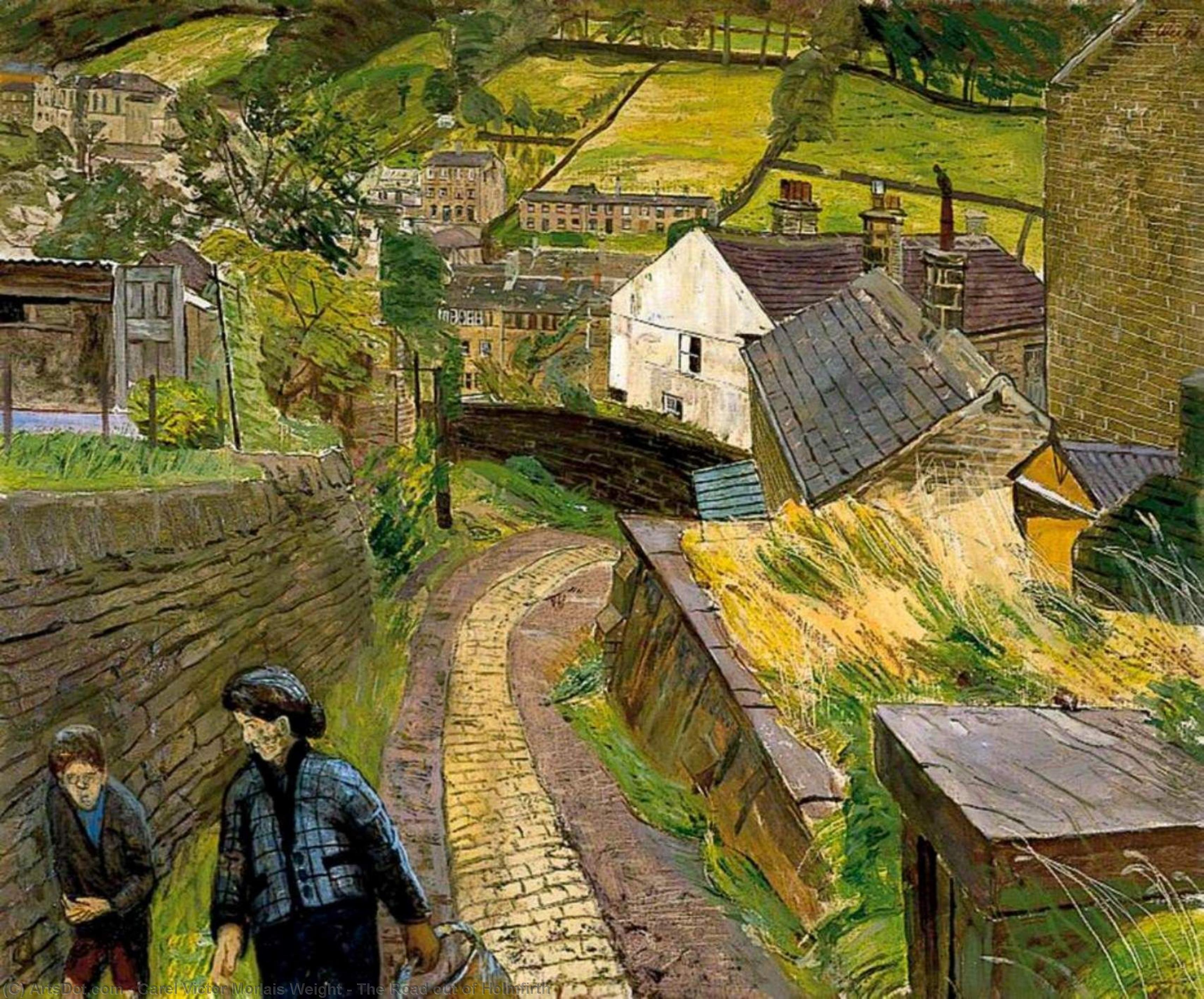 la strada fuori Holmfirth di Carel Victor Morlais Weight (1908-1997, United Kingdom) | Copia Pittura | ArtsDot.com