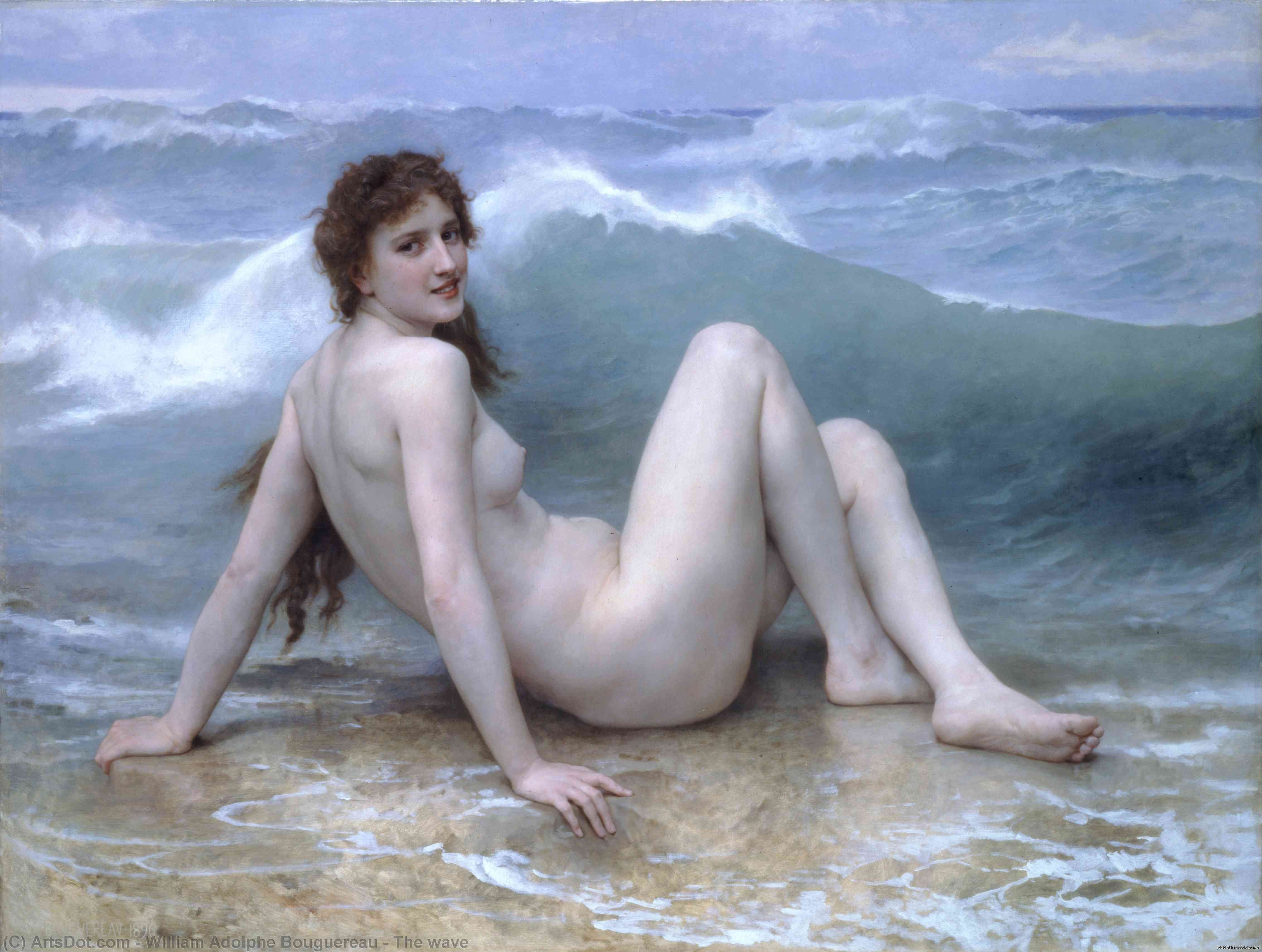 il onda, 1896 di William Adolphe Bouguereau (1825-1905, France) | Riproduzioni D'arte William Adolphe Bouguereau | ArtsDot.com