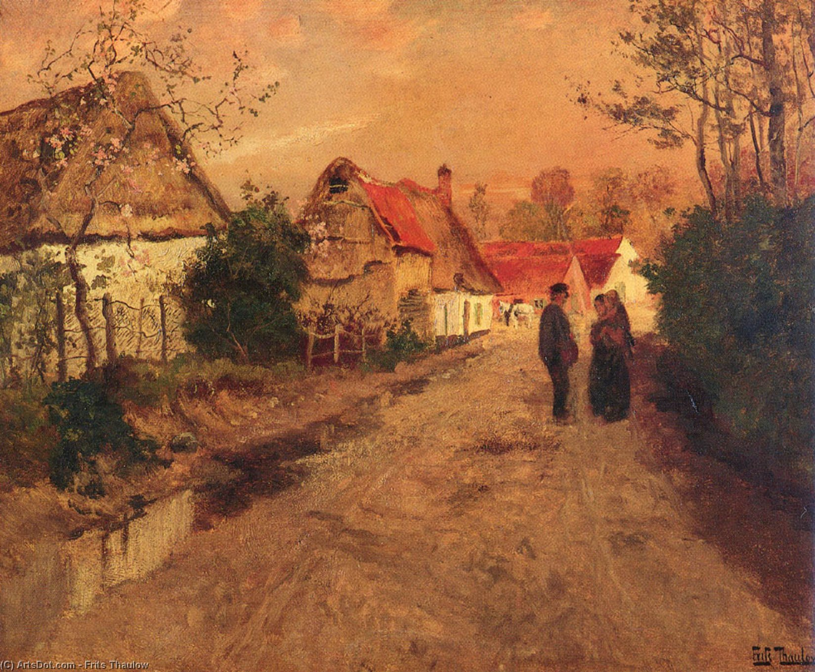 Arques­La­Bataille , Normandie di Frits Thaulow (1847-1906, Norway)