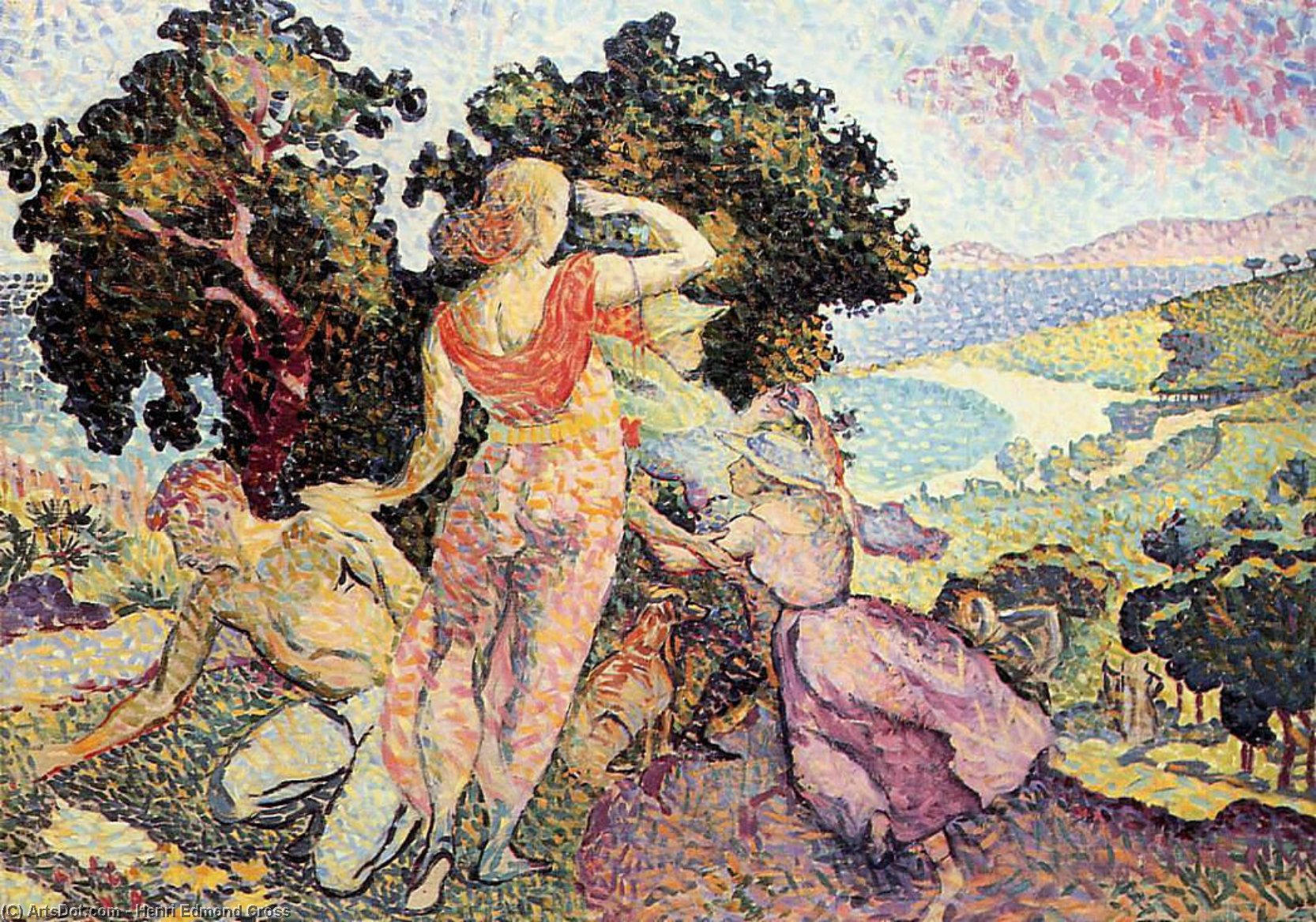Studio per Excuirsion, olio su tela di Henri Edmond Cross (1856-1910, France)