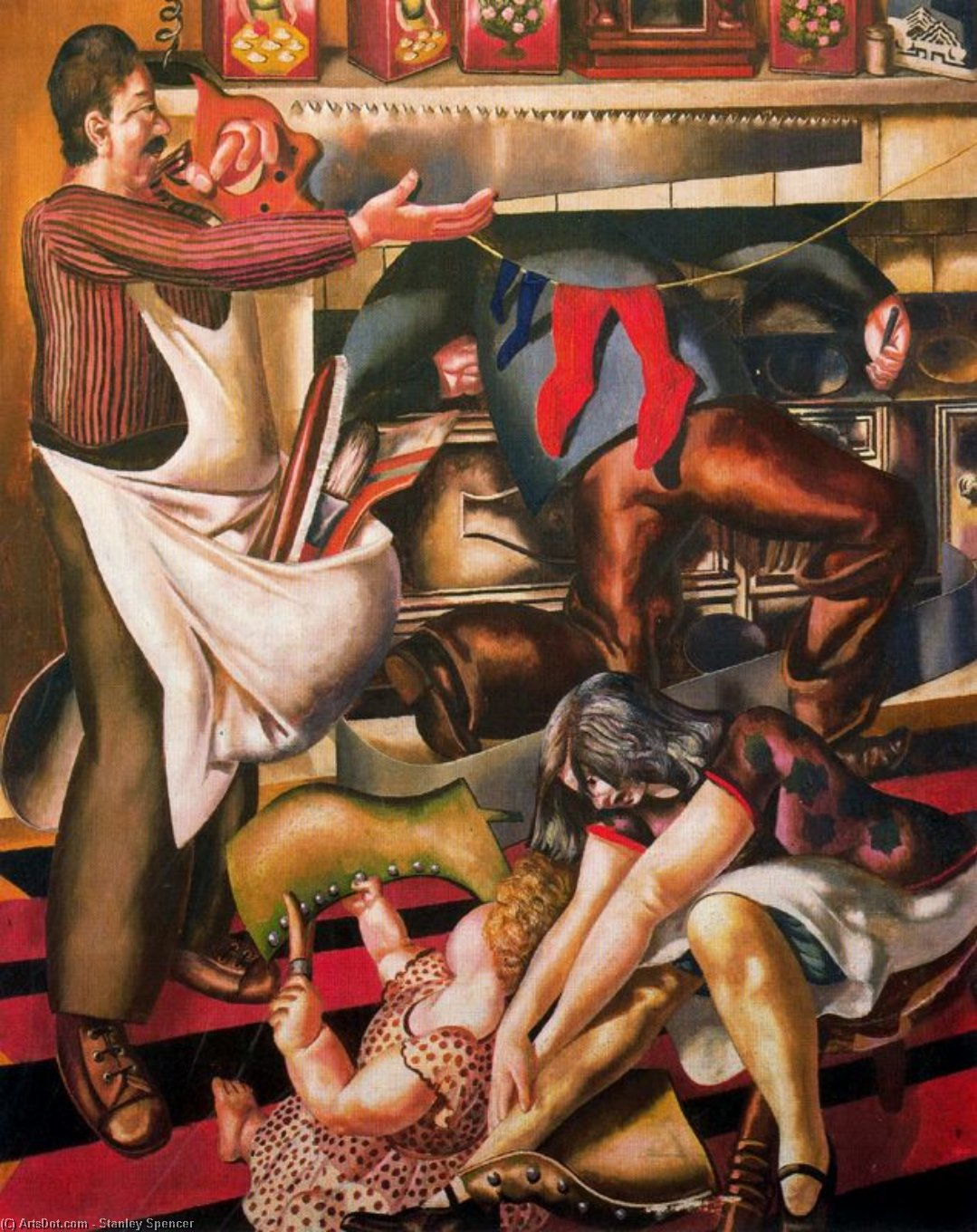 operai come  dopodomani  Casa  di Stanley Spencer (1891-1959, United Kingdom) | ArtsDot.com
