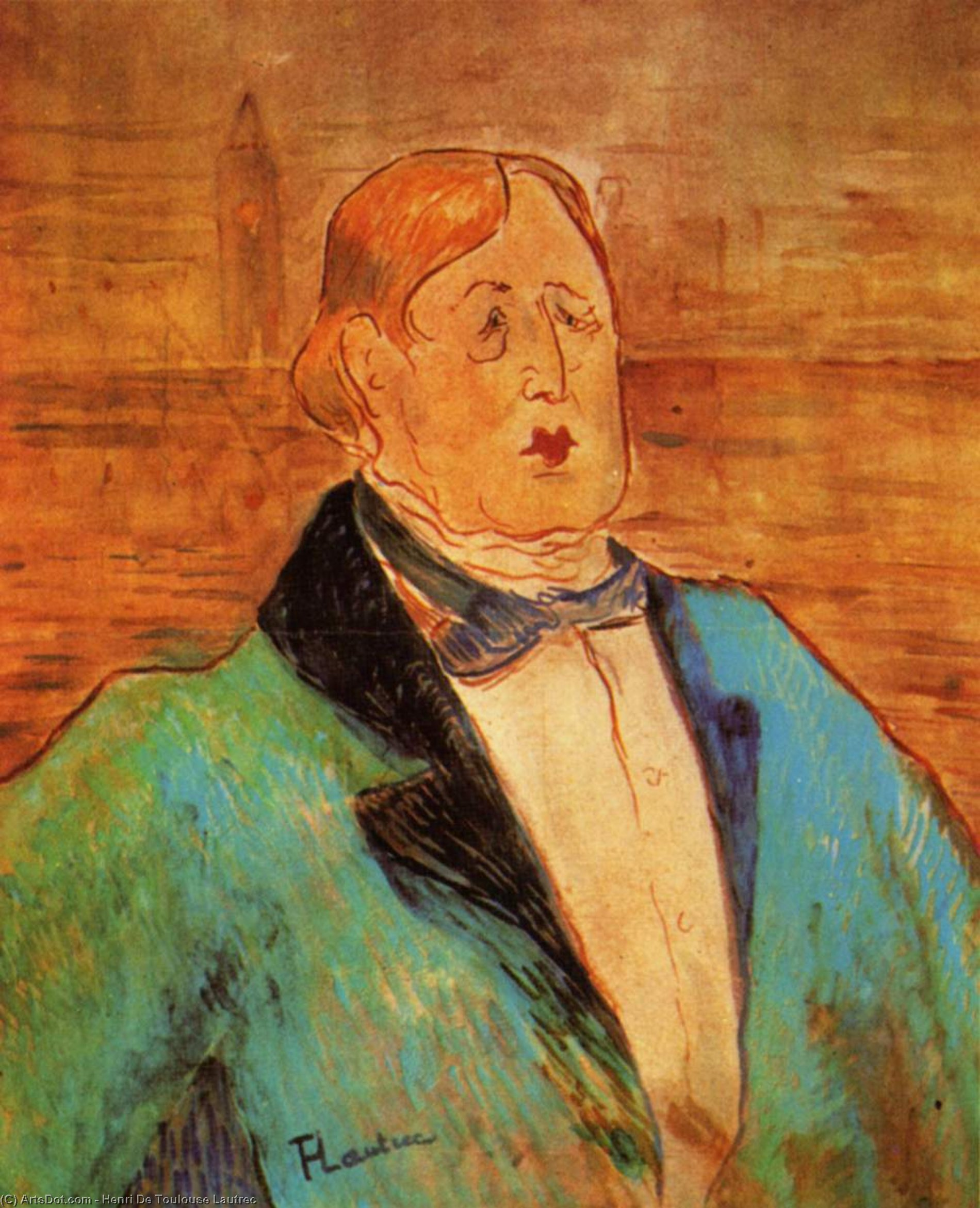 Portrait of Oscar Wilde, 1895 di Henri De Toulouse Lautrec (1864-1901, France)