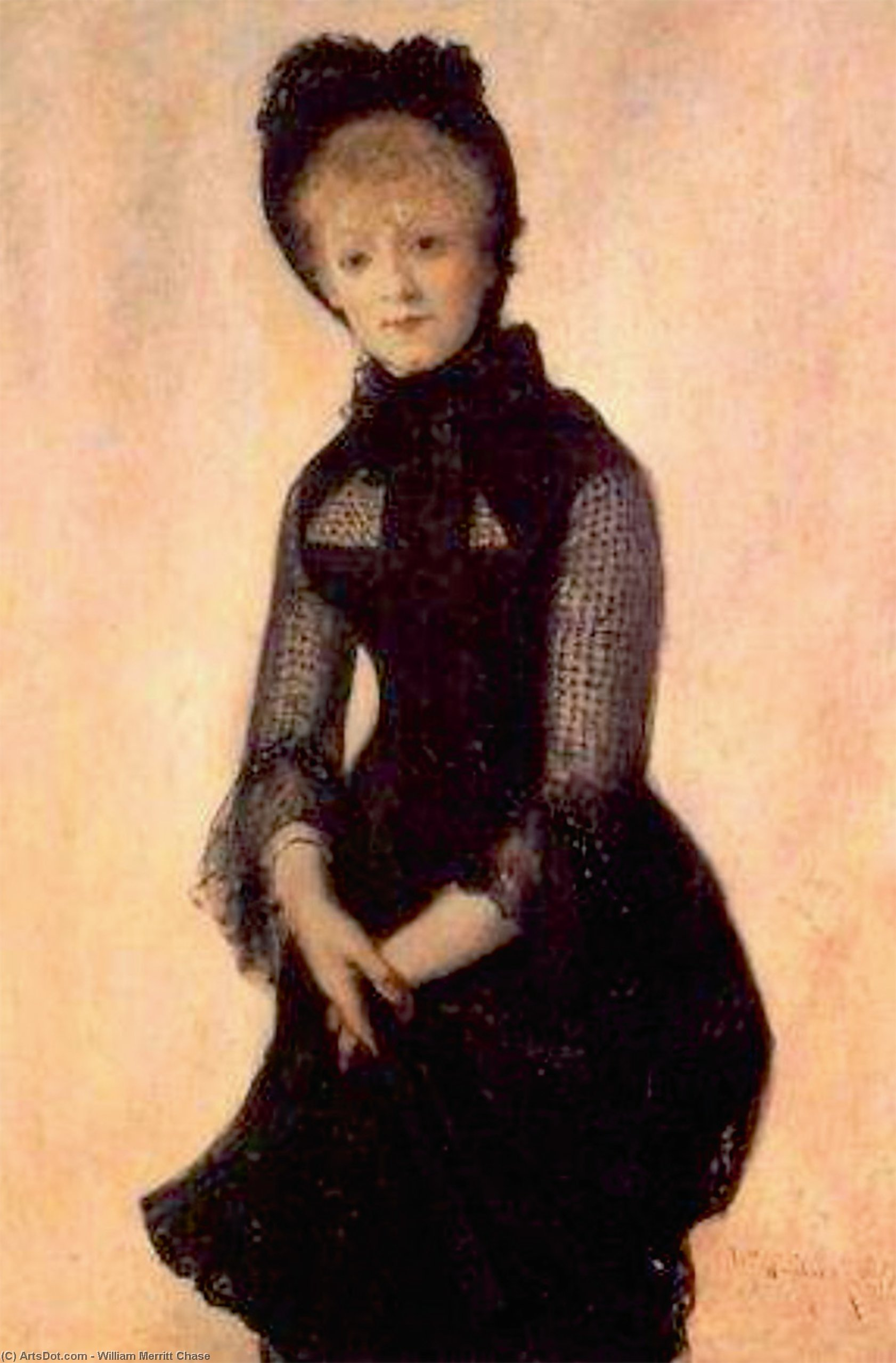 Ritratto harriet hubbard ayer, 1879 di William Merritt Chase (1849-1916, United States) | ArtsDot.com