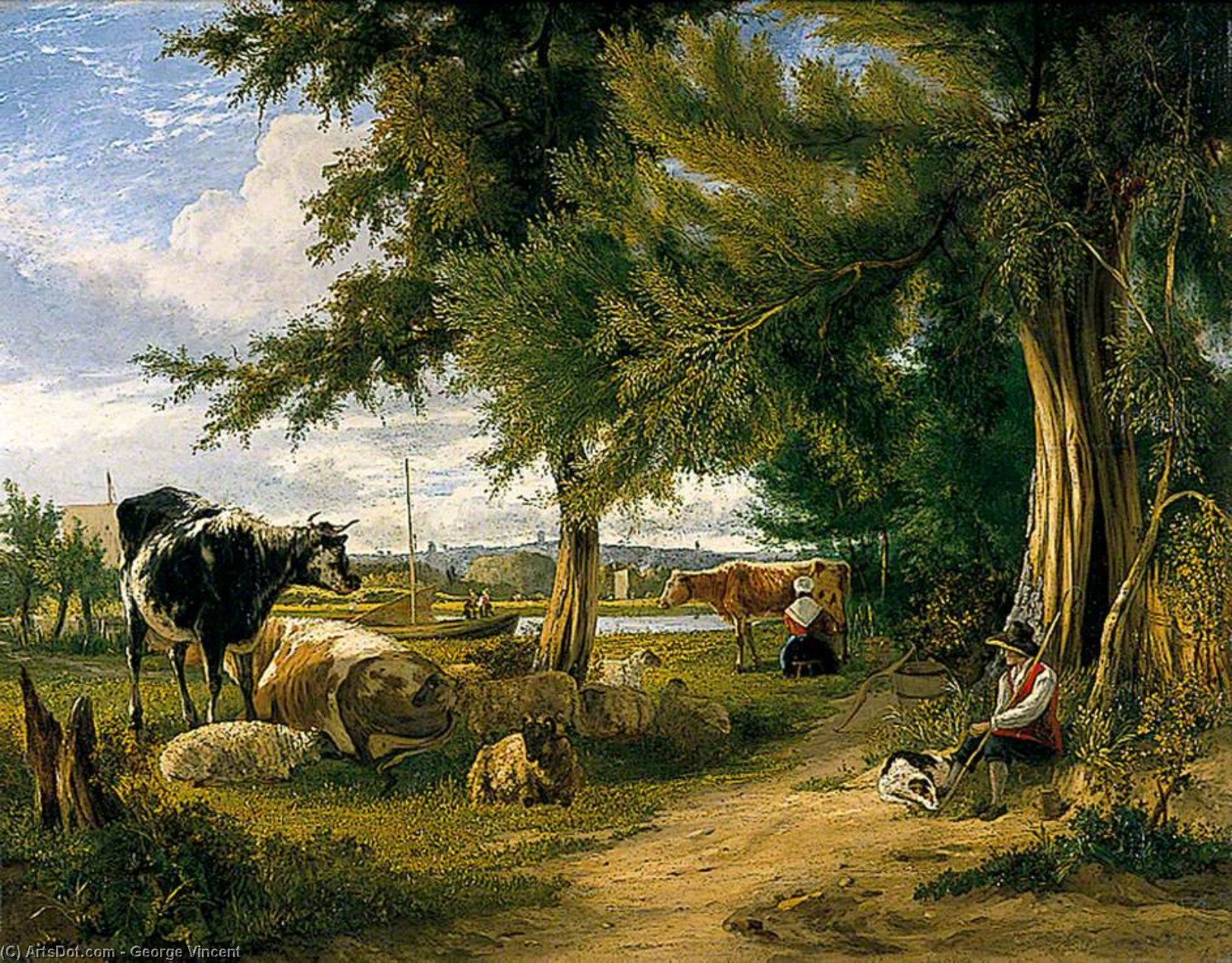 Scena pastorale di George Vincent (1796-1831, United Kingdom)