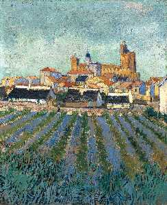 Vincent Van Gogh - Vista di Saintes-Maries
