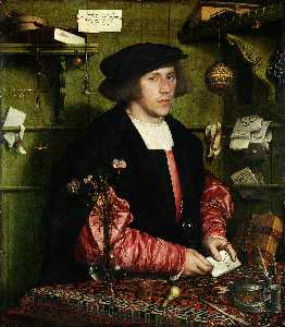 Hans Holbein The Younger - ritratto del mercante georg gisze