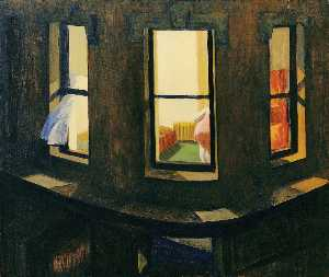 Edward Hopper - Notte di Windows