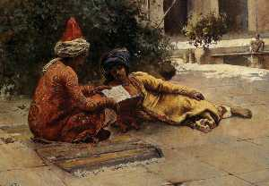 Edwin Lord Weeks - Due arabi Reading