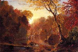 Frederic Edwin Church - autunno in america del no..