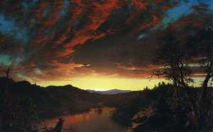 Frederic Edwin Church - twilight in the wildernes..