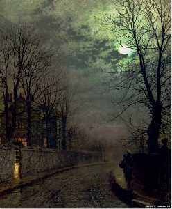 John Atkinson Grimshaw - una corsia in headingley ..