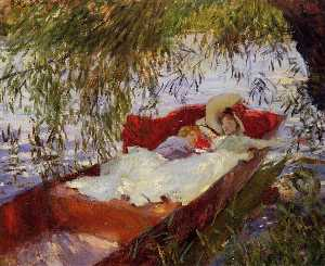 John Singer Sargent - due donne asleep in un pu..