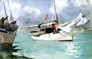 Winslow Homer - pescherecci , key west