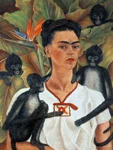 Frida Kahlo - Self-Portrait con le scim..