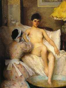 Edmund Charles Tarbell - Il bagno