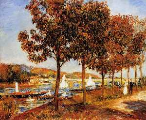 Pierre-Auguste Renoir - il ponte a argenteuil in autunno
