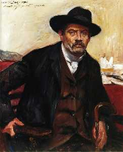 Lovis Corinth (Franz Heinrich Louis) - autoritratto in un nero cappello