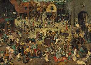 Pieter Bruegel The Younge.. - La battaglia tra la Quare..