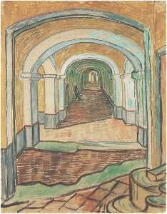 Vincent Van Gogh - Corridoio a Saint-Paul Hospital