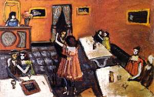 Auguste Chabaud - Coppie in un bistrot