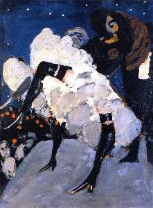Auguste Chabaud - French-cancan