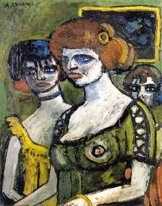 Auguste Chabaud - ragazze in verde