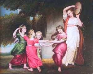 George Romney - Bambini Granville Leveson-Gower s