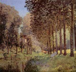 Alfred Sisley - The rest beside d`un Cree..