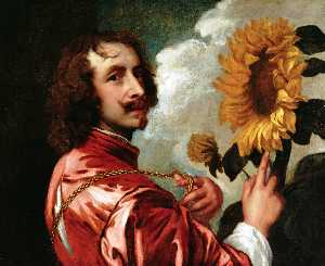 Anthony Van Dyck - autoritratto con a semi d..