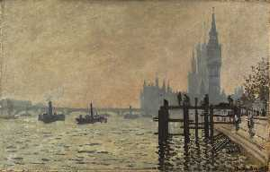 Claude Monet - il tamigi sotto westminster